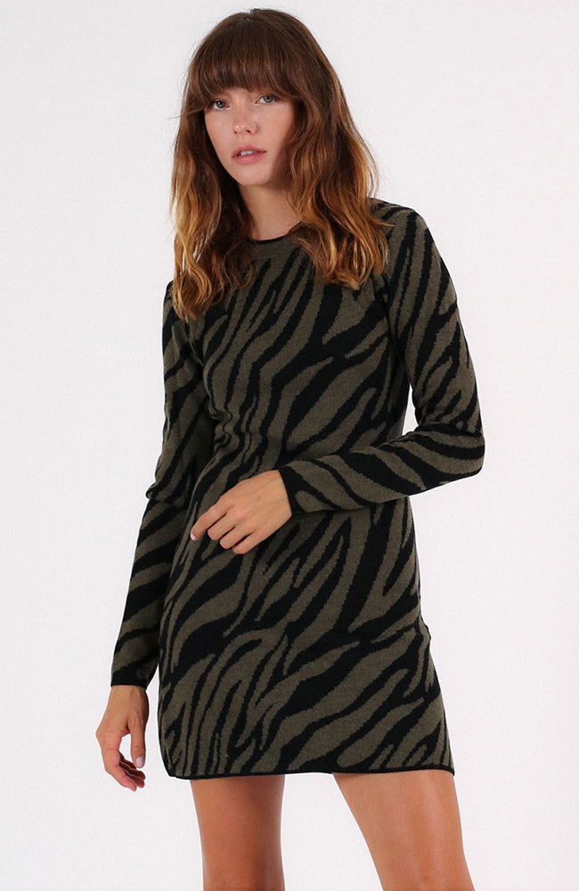L/S Zebra Sweater Dress