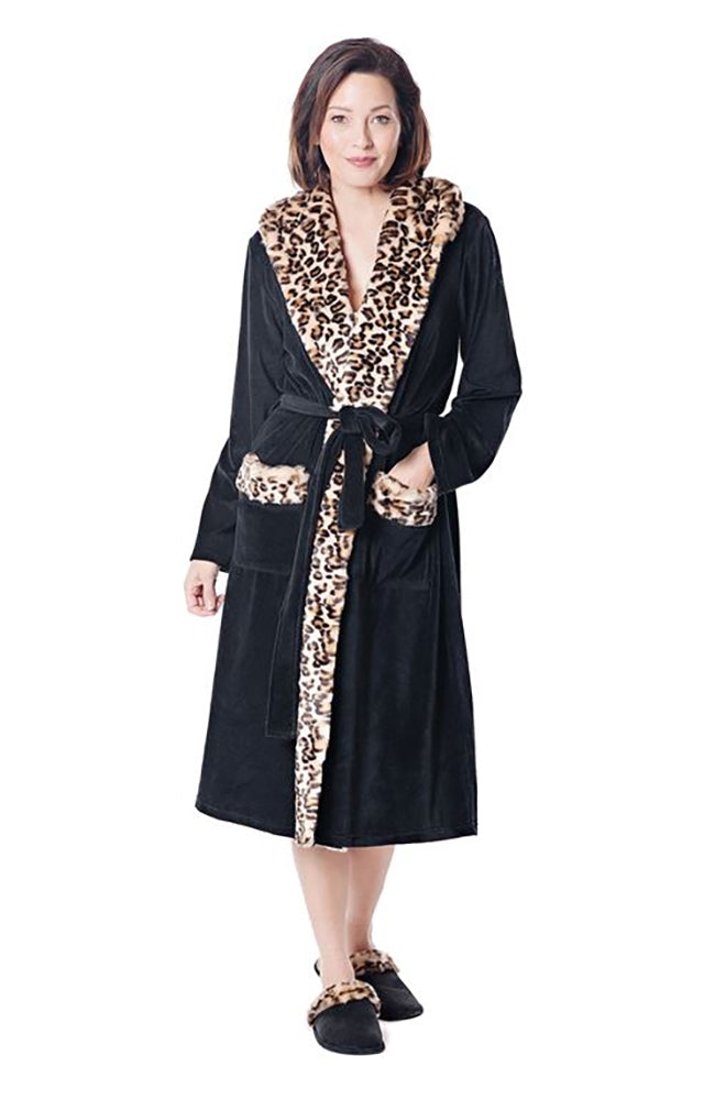 Faux Fur Trimmed Robe