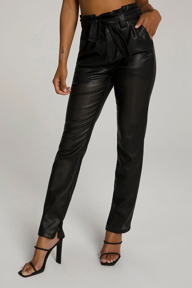 Perforated Pleated Pant