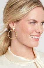 Chloe Gold Mother Of Pearl Earrings