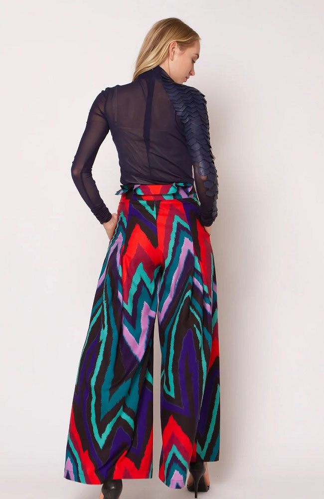 Multicolor High Waist Pants
