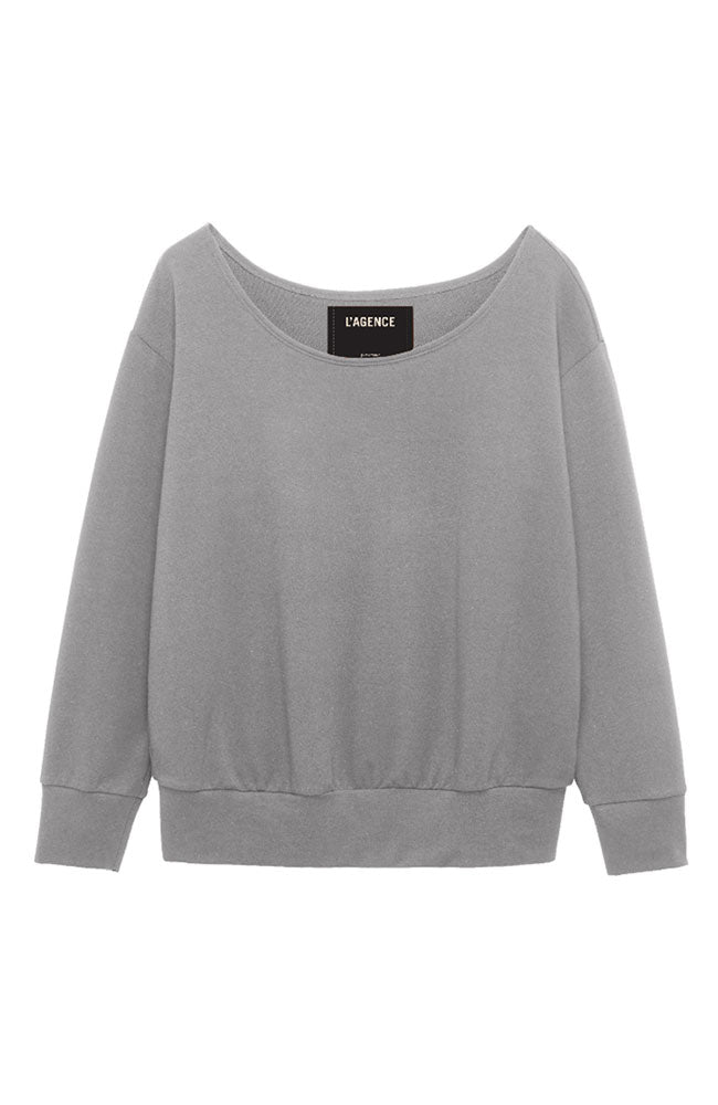 Kimora Off Shoulder Top Heather Gray