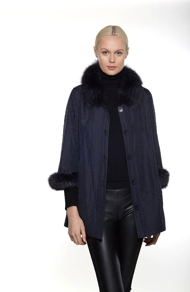 Silk Fur Reversible Coat