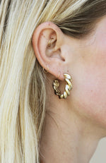 Gold Thick Twist Hoops