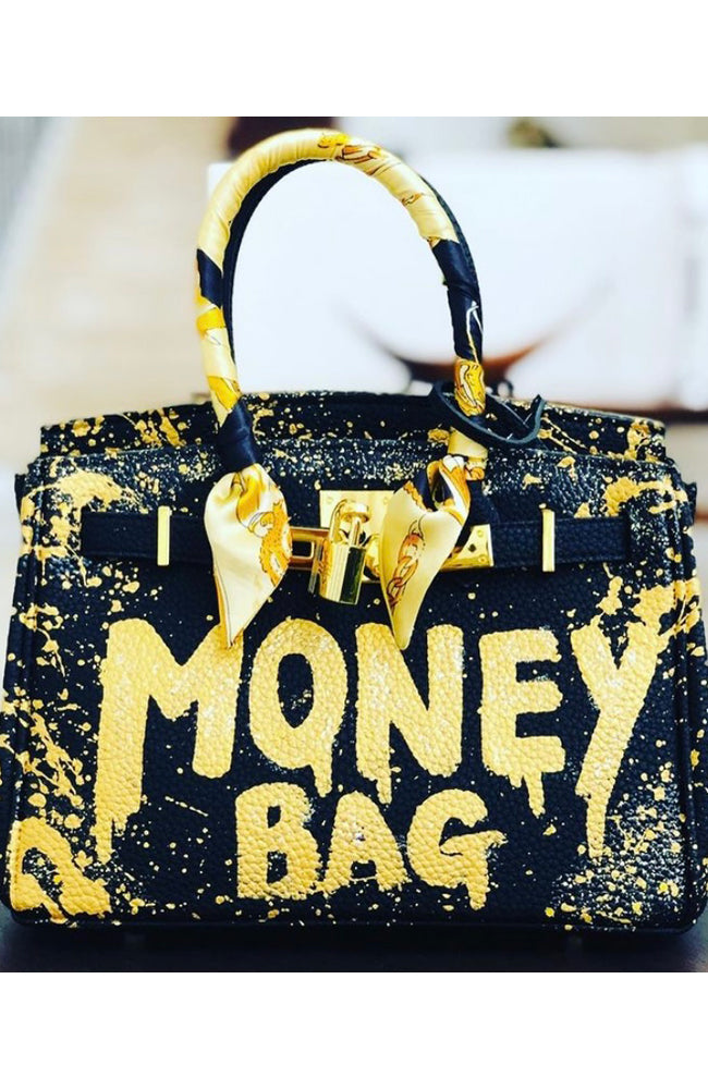 Bianca Money Bag in Black