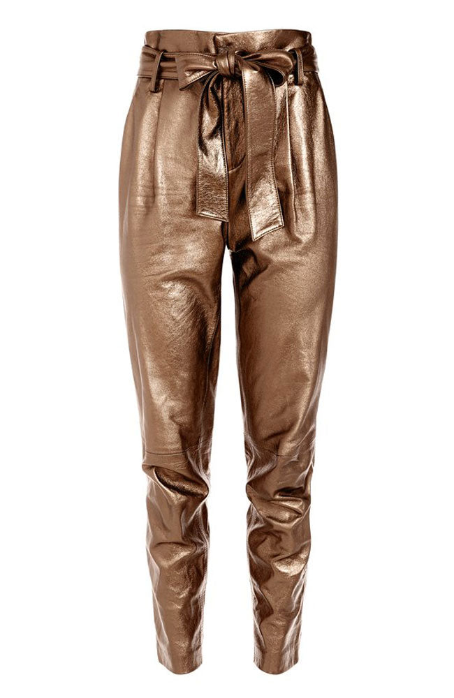 Gabriielle Pants HW w/ Belt in Bronze