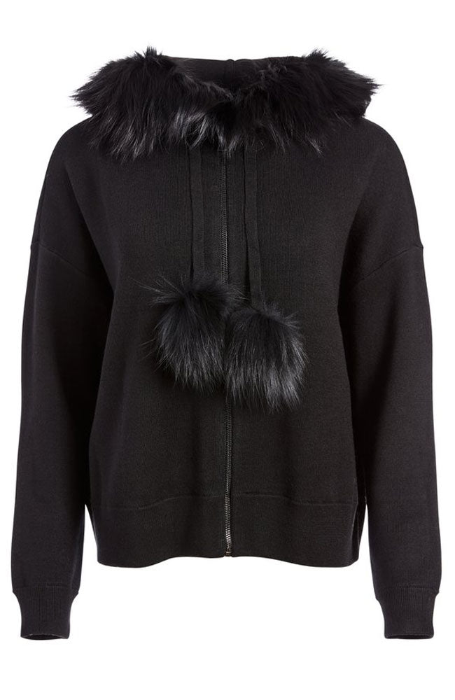 Oscar Fur Trim Oversized Zip