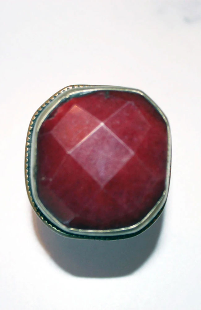Indian Ruby Tibetan Silver Ring