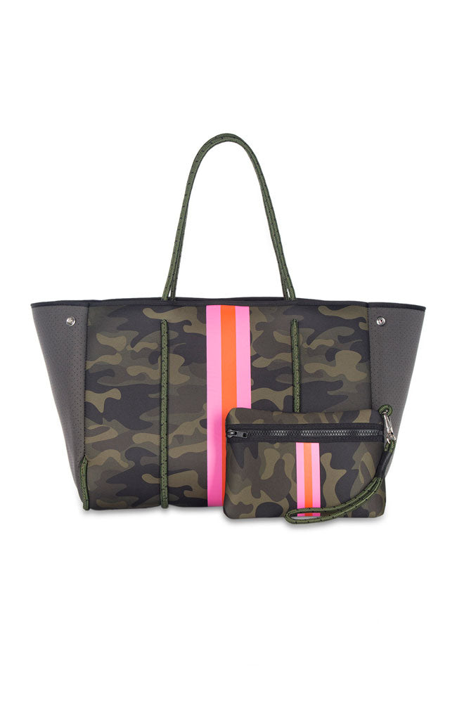 Greyson Showoff Green Camo with Pink Orange Stripe
