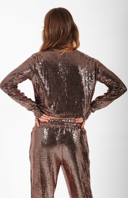 Mirror Ball Slouchy Long Sleeve Top