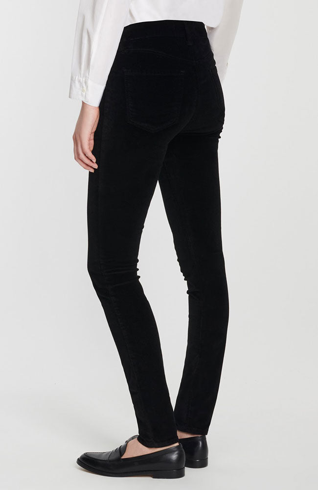Maria High Rise Skinny in Black Velvet