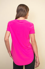 Basic Scoop Neck Tunic in Azalea, Black, Midnight