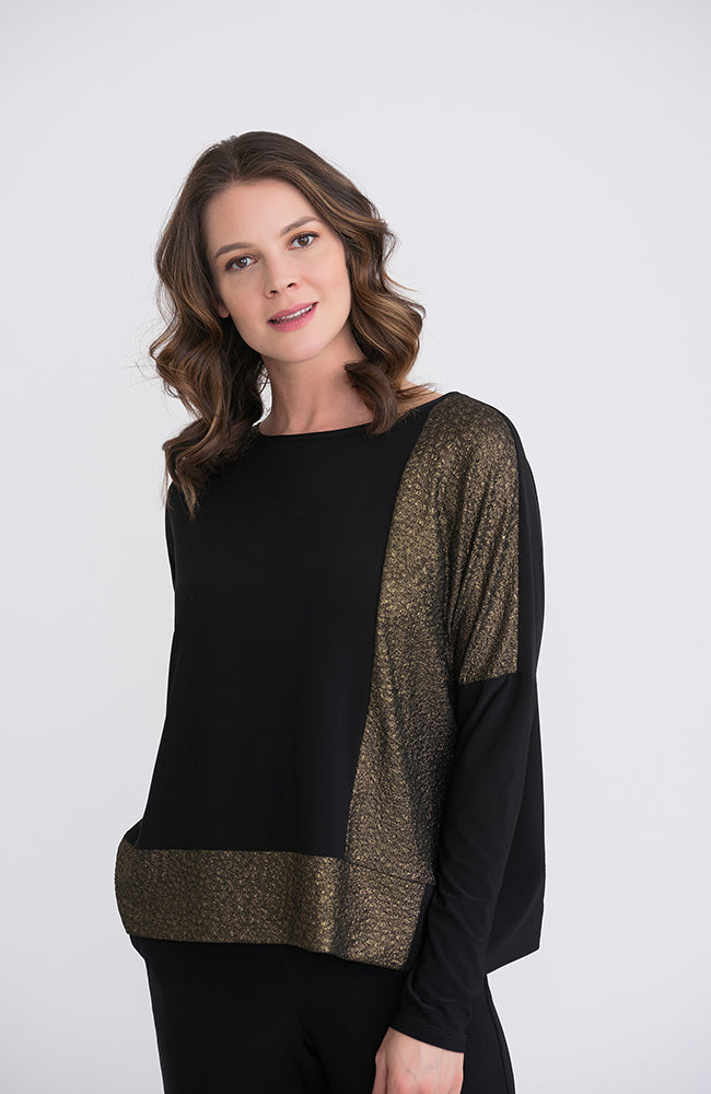 Black & Gold Long Sleeve Top