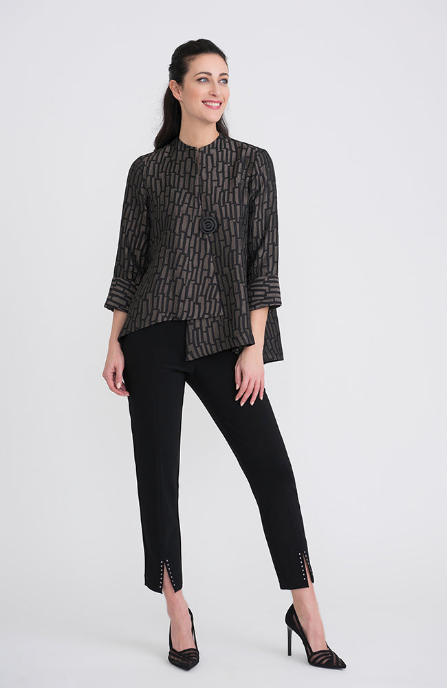 3/4 Sleeve Big Button Top
