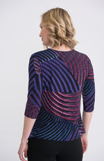 3/4 Sleeve Top with Side Gather