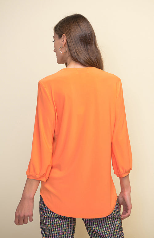 3/4 Sleeve Top with Tie Neck
