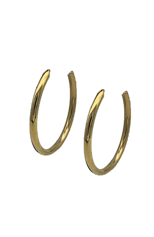 "1.75"" Gold Tube Hoop"