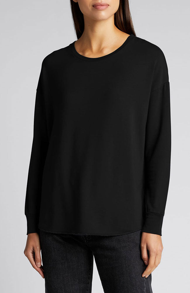French Terry Oversized L/S Crew Neck Tee