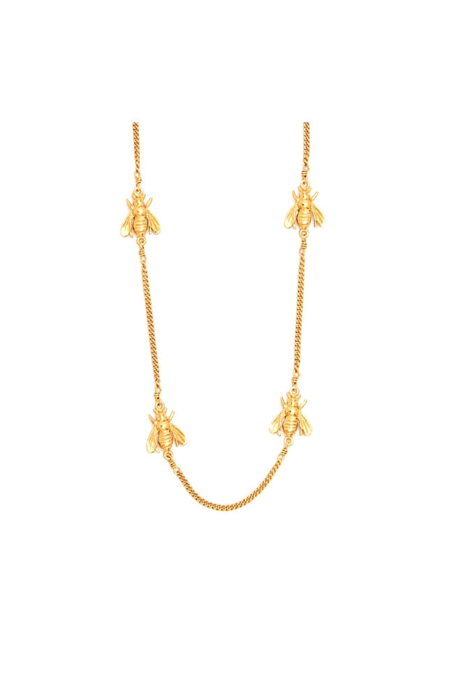 Bee Delicate Necklace Gold 16.5-17.5""
