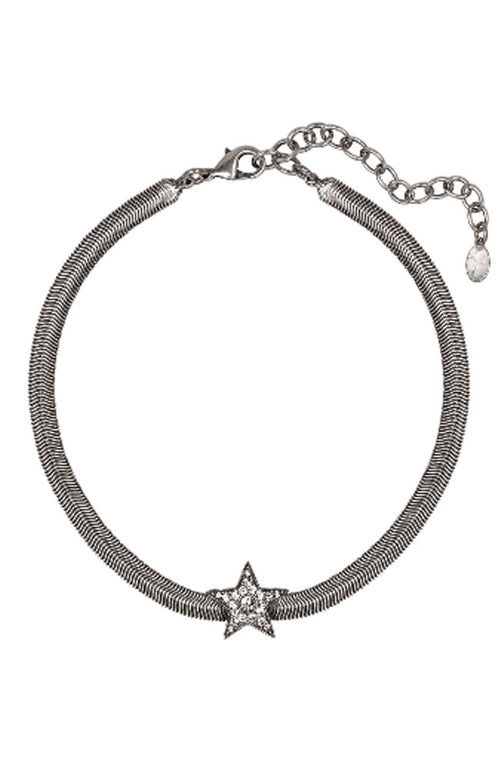 Snake Chain Necklace with Star in Gold