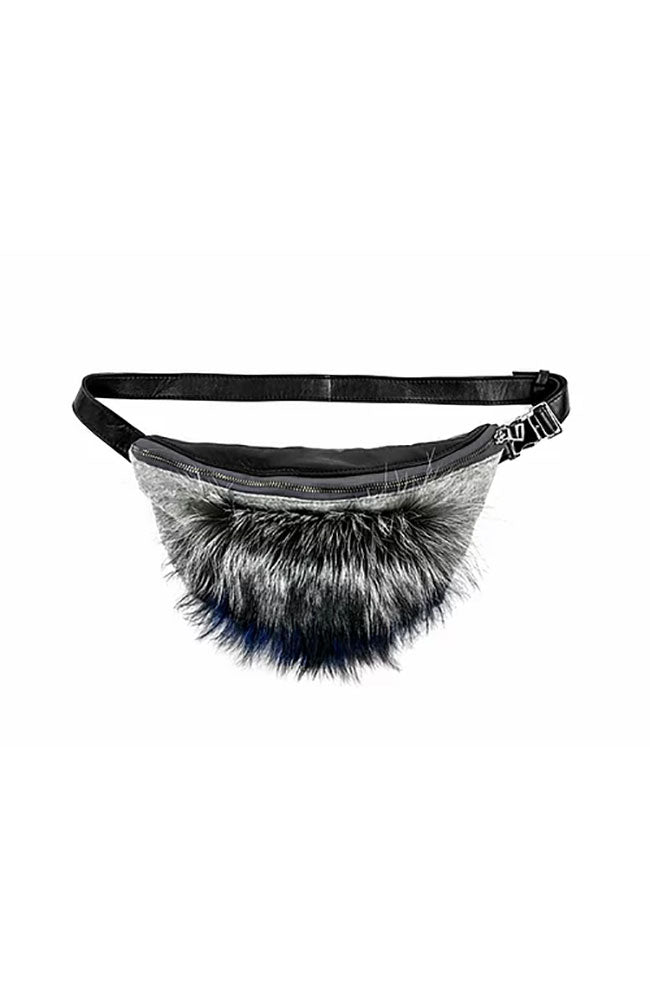 Leather & Silver Fox Fanny Pack