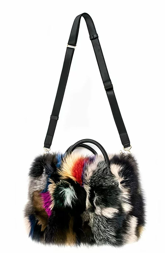 Silver Fox Fur Handbag