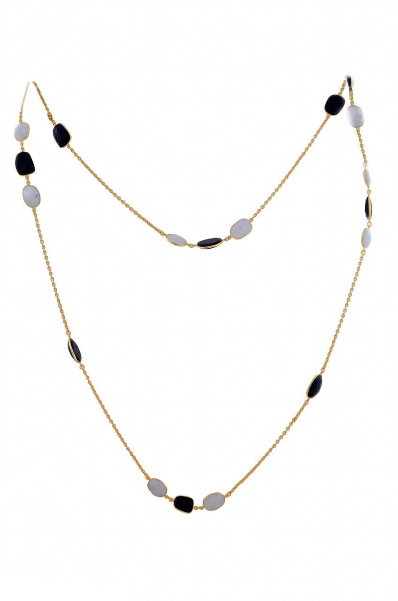 Black Onyx Moonstone Necklace