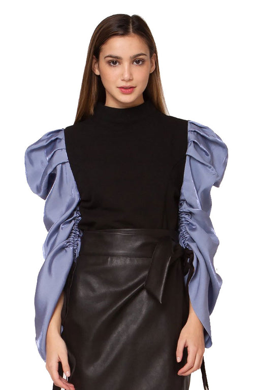 Crop Top with Shirred Drape
