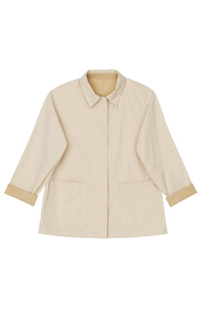 Reversible Huntington Jacket in Creme