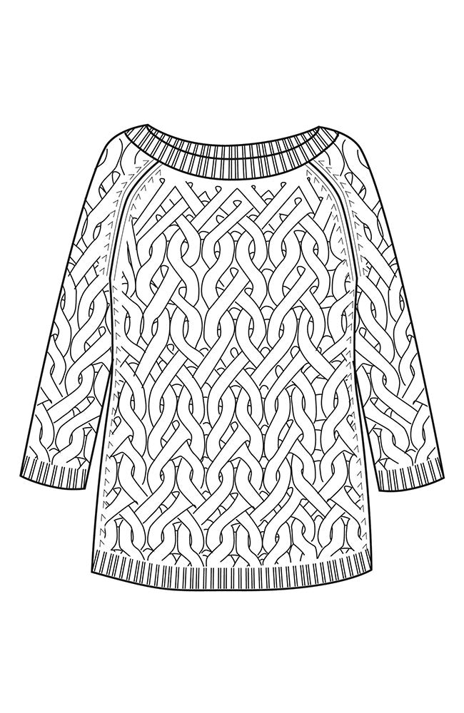 Bateau Neck Cable Sweater