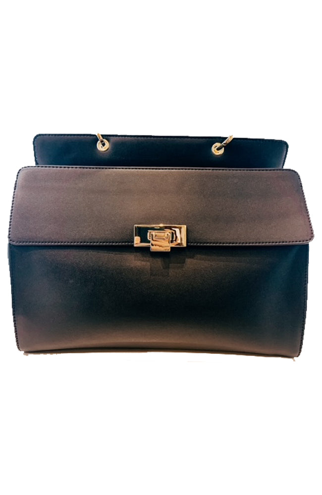Black Convertible Satchel Bag