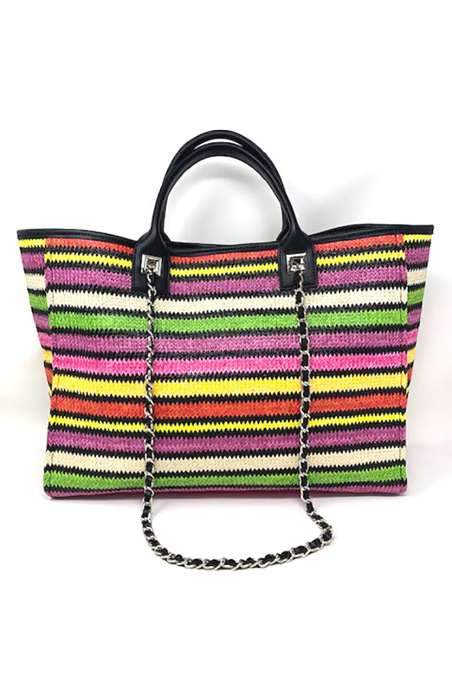 Bright Multi Stripe Handbag