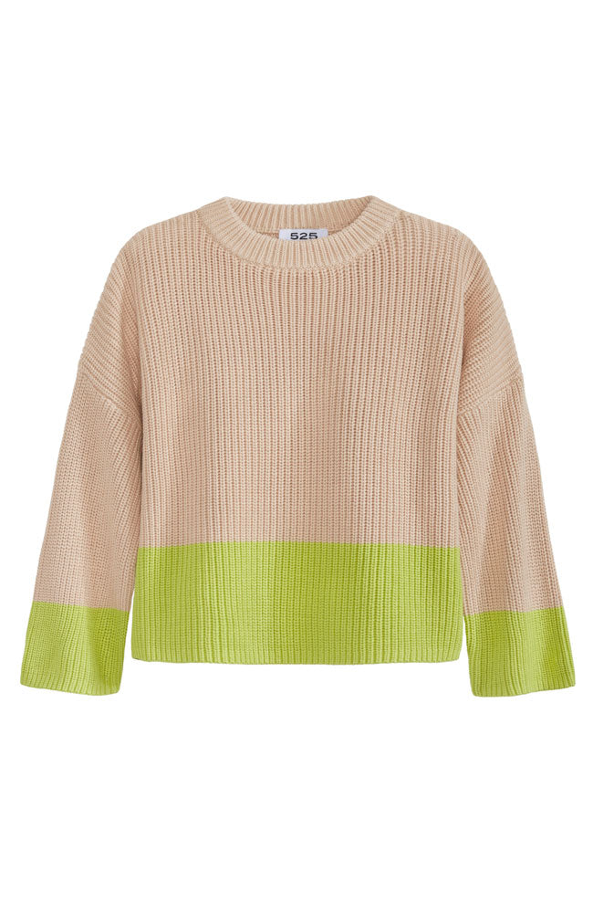 Cotton Contrast Pullover