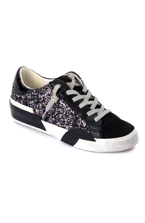 Zina Sneaker in Black Glitter