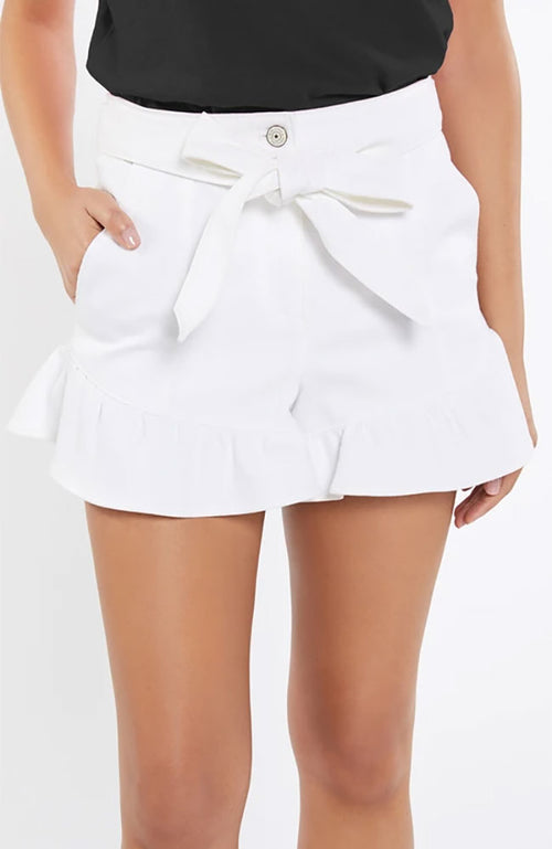 White Denim Penny Shorts