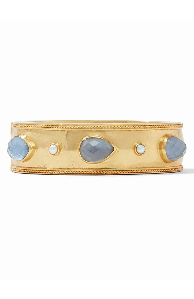 Cassis Statement Hingle Bangle in Iridescent Slate Blue