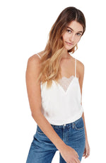 Sweetheart White Cami