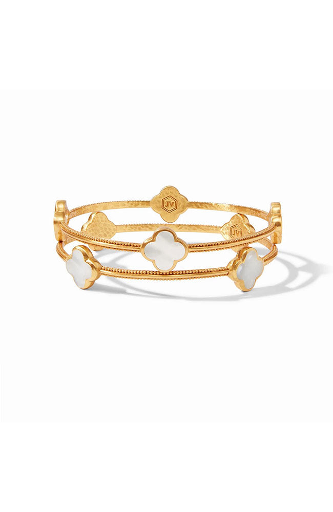 Chloe Gold Mother Of Pearl Bangle Medium
