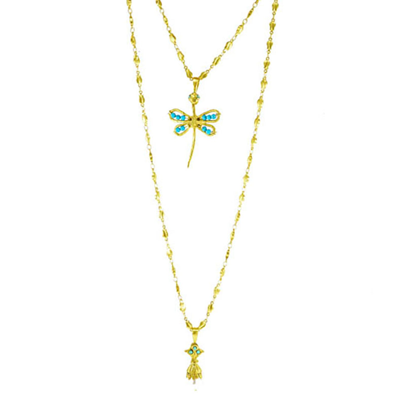 Mindful Presence Necklace with Turquoise Butterfly