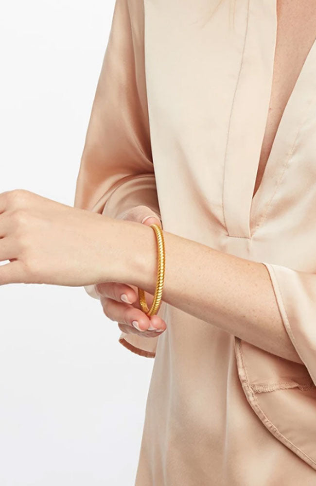 Gold Olympia Hinge Bangle