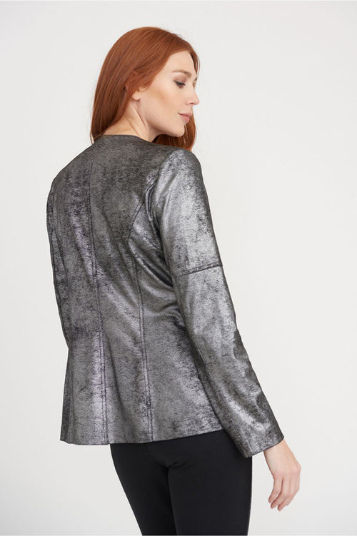 Metallic Jacket with Grommets