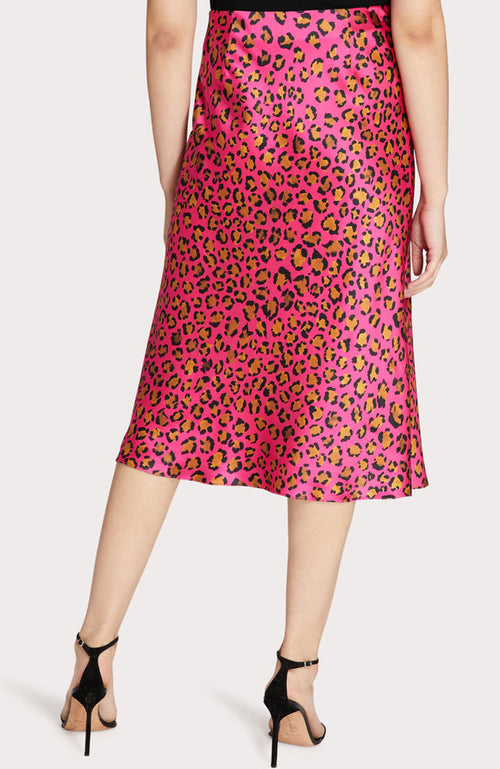Fion Cheetah Print Bias Skirt