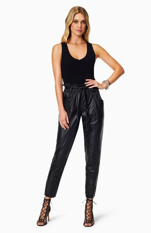 Marty Faux Leather Paperbag Pant
