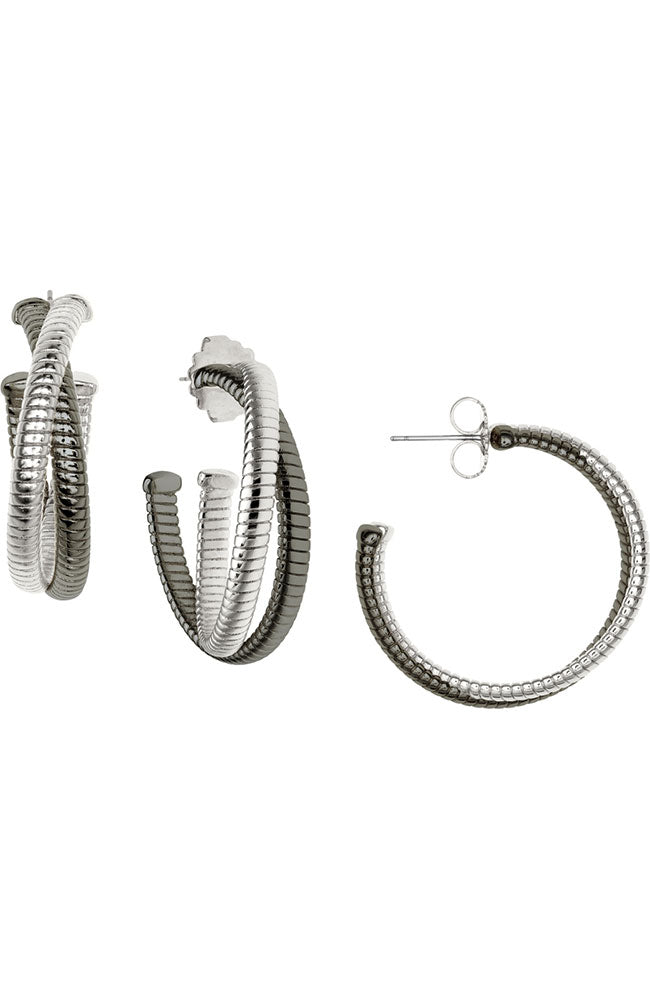 Double Cobra Hoop-Gun/Rhodium