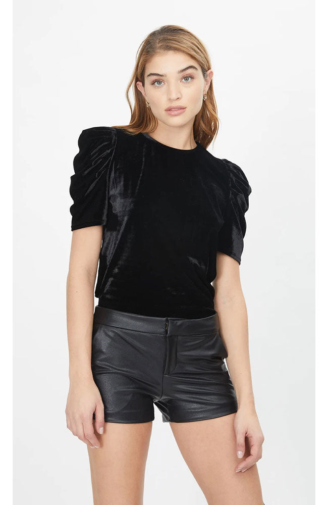 Frenchie Stretch Velvet Top