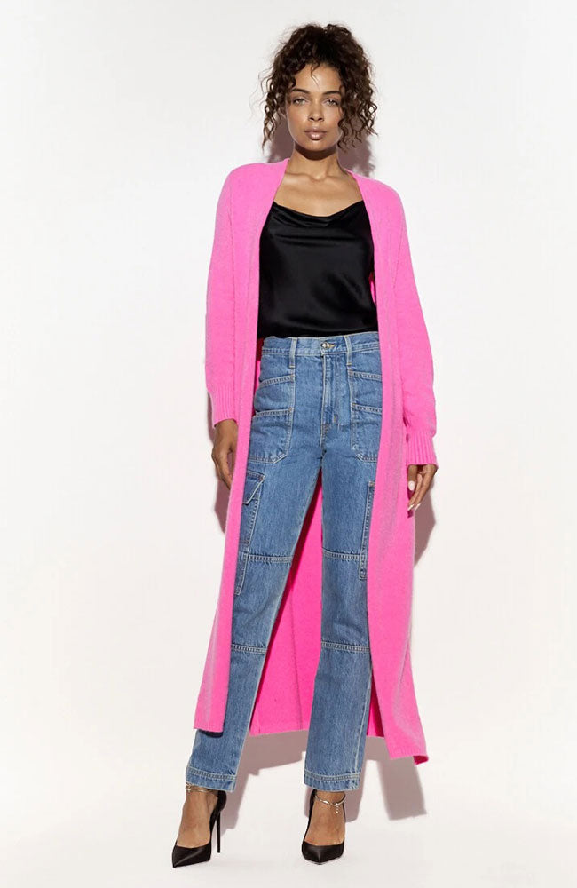 Aria Cashmere Maxi Cardigan with Slits