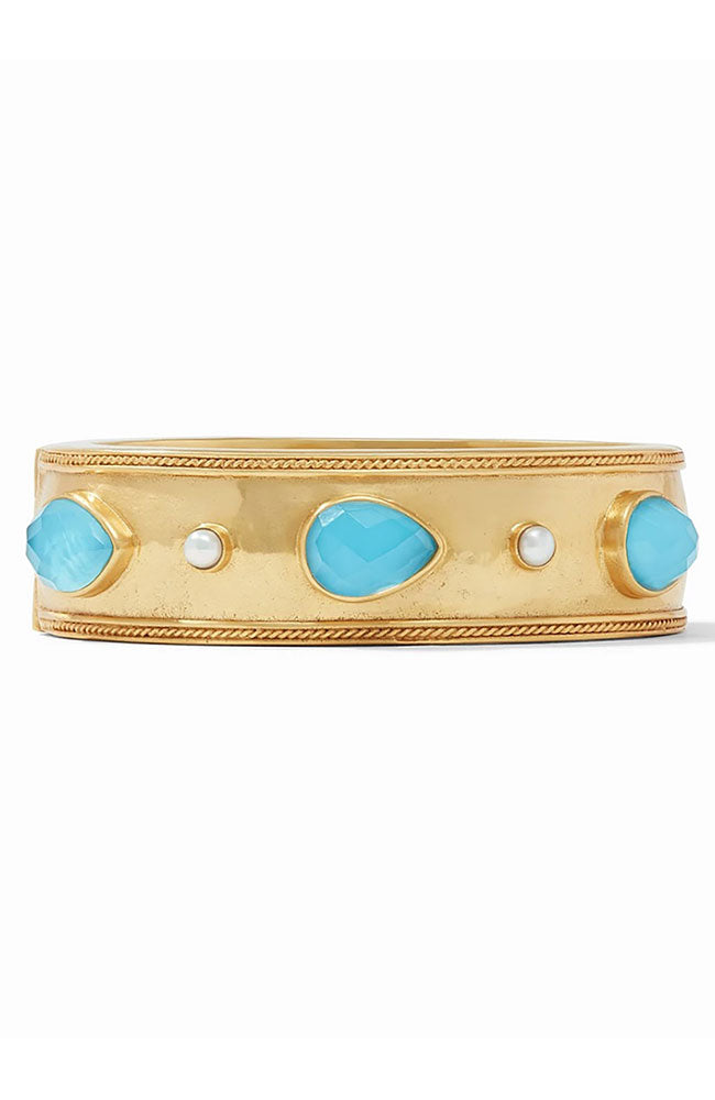 Cassis Statement Hingle Bangle in Iridescent Pacific Blue