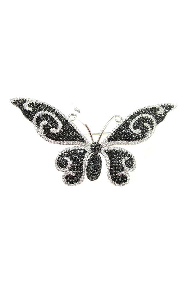 Pin Butterfly Black and Clear