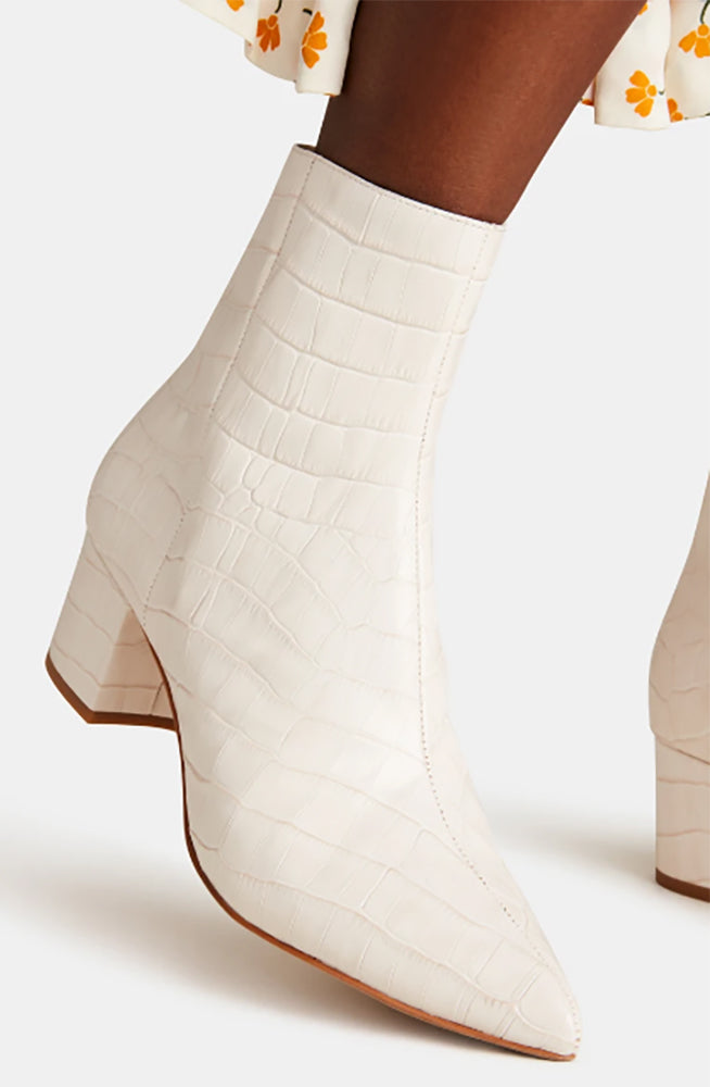 Low Croco Bootie