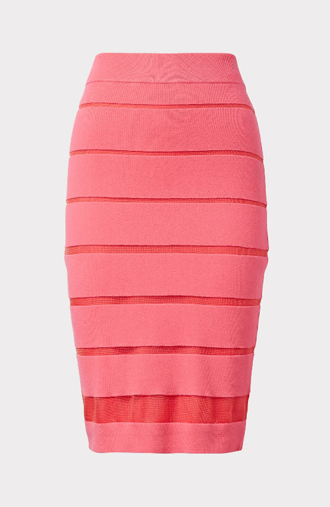 Sheer Stripe Skirt in Watermelon